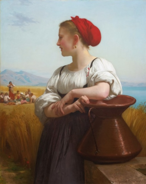 Moissonneuse *oil on canvas *106.5 x 85 cm *signed b.r.: W-BOUGUEREAU - 1868 -