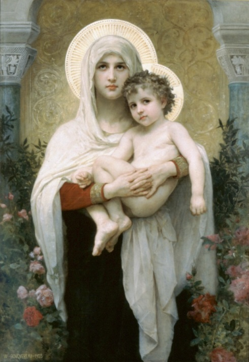 William-Adolphe_Bouguereau_(1825-1905)_-_The_Madonna_of_the_Roses_(1903)